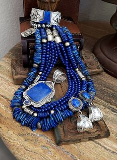 Southwestern Lapis necklaces pendant bracelets earrings collection by Schaef Designs Jewelry online Big Jewelry, Tribal Jewelry, Turquoise Jewelry, Beaded Jewelry, Handmade Jewelry, Jewelry Design, Boho Jewellery, Contemporary Jewellery, Modern Jewelry