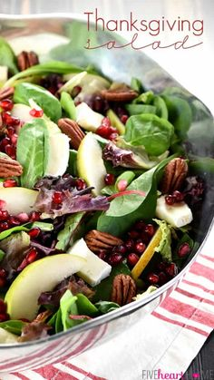 Thanksgiving Salad, Thanksgiving Side Dishes, Thanksgiving Recipes, Christmas Salad Recipes, Holiday Recipes, Dinner Recipes, Dinner Ideas, Top Recipes, Holiday Foods