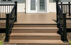 Lowe's Composite Deck by Tropics is a beautiful low-maintenance product that is easy to install. See our beautiful new tropics deck and instructions how to install yours! Tiny House Kits, Deck Stairs, Composite Decking, Building A Deck, Deck Design, Kit Homes, Backyard Landscaping, Lowes, Tropical