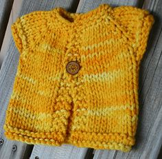 Wee Speedy is a super-fast to knit baby sweater, and only takes an hour or so to make from start to finish.