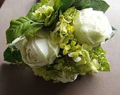 Chartreuse Lime Green Wedding Flower Bouquet READY TO SHIP