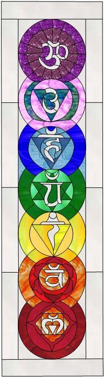 Stained Glass Patterns :: Chrakra Panel :: Chakras Faux Stained Glass, Stained Glass Designs, Stained Glass Panels, Stained Glass Projects, Stained Glass Patterns, Mosaic Art, Mosaic Glass, Fused Glass, L'art Du Vitrail