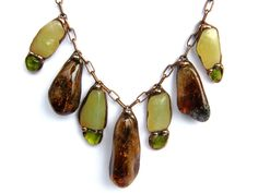 Royal+necklace+green-brown+from++Witrażka+-+jewelry+made+of+semiprecious+stones+by+DaWanda.com