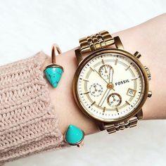 Turquoise Bangle Bracelet #bangles #fossil #watches #cuffbracelet - 14,90  @happinessboutique.com