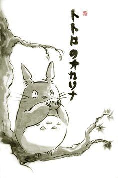 Totoro painting