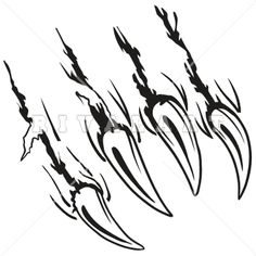 Mascot Clipart Image of Animal Claws Tearing Ar39-Claw-02-Rq