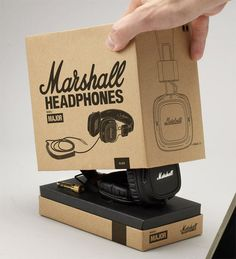 Fantastically simple; the Marshall Headphones box.