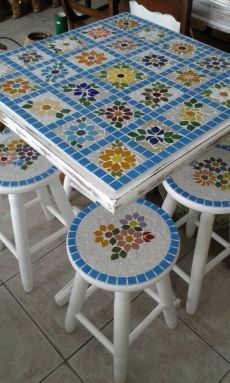 New Ideas Garden Art Crafts Mosaic Tiles Tile Art, Mosaic Art, Mosaic Glass, Mosaic Tiles, Stained Glass, Mosaic Crafts, Mosaic Projects, Diy Projects, Mosaic Designs