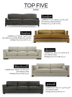 Our Mitchell Gold + Bob Williams Sofa Favorites