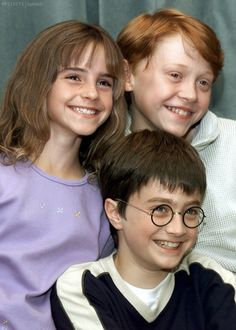 Emma, Rupert & Dan on August 21, 2000. Fifteen years ago, the Harry Potter movie cast was announced to the world.