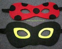 Máscaras LadyBug e Cat Noir