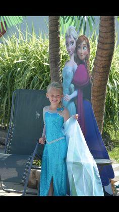 Elsa dress costume frozen children birthday girl frozen dress