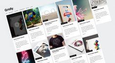 Gridly Blog Web Design Free PSD Template