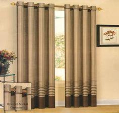 Becky Brown Grommet Curtain