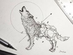 Dibujos de animales fusionados con pura geometría                                                                                                                                                                                 Más                                                                                                                                                                                 Más