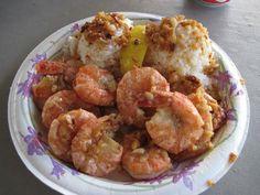 knock off recipe for Giovanni's Shrimp Truck, North Shore Hawaii garlic shrimp recipe food truck Fish Recipes, Seafood Recipes, Cooking Recipes, Korean Recipes, Copycat Recipes, Shrimp Truck Recipe, Hawaiian Garlic Shrimp, Hawaii Garlic Shrimp Recipe, Spicy Shrimp
