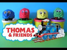 Play Doh Thomas the Tank Engine Roundhouse Surprise Trains - YouTube