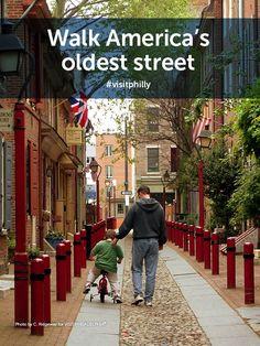 Philly Bucket List Tip: Walk America's oldest street, Elfreth's Alley. #visitphilly
