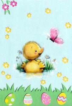 Duckling - Easter - By: Simon Elvin Art