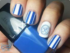 Sugar Coated Nails: Graceful Blue Bird Nail Art Decoration