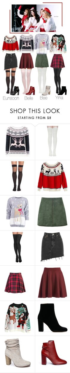 """""""[VLIVE] Madam Pearl received secret santa gifts"""" by official-madampearl ❤ liked on Polyvore featuring Mela Loves London, Capelli New York, Boohoo, George J. Love, Commando, AGOLDE, Chicwish, Chinese Laundry, Mercedes Castillo and Miss Selfridge"""