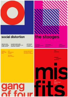 Swissted   Swiss Modernism & Rock Band Posters