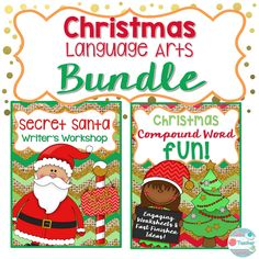 Christmas Language Arts Bundle! This Christmas Language Arts bundle includes a Secret Santa writing unit and Christmas Compound words games and worksheets Save with Bundles! You save 20% when you buy both of these products together in the bundle. This bundle includes: Secret Santa Writer's Workshop (Service Learning Writing Unit) and Christmas Compound Word Fun (Compound word games and worksheets). Click here…