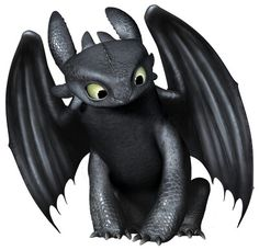 Night Fury Toothless - How to Train Your Dragon Toothless And Stitch, Toothless Dragon, Hiccup And Toothless, Hiccup Dragon, Toothless Tattoo, Baby Toothless, Httyd Dragons, Dreamworks Dragons, Cute Dragons