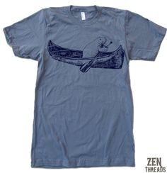 Zen Threads custom printed Manatee design in eco-friendly ink. Made in the USA. Hand screen pressed to order in Northern California. You choose the size and color! Men's/Unisex Short Sleeve American A