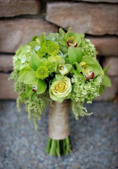 Bridal bouquet using lime green flowers Bride Bouquets, Bridesmaid Bouquet, Floral Bouquets, Bouquet Flowers, Green Bouquets, Bridesmaids, Floral Wedding, Wedding Flowers, Lime Wedding