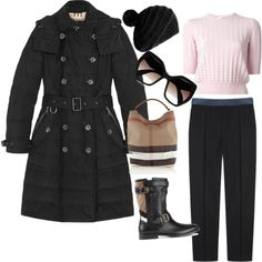 Burberry by daniela-davis on Polyvore featuring polyvore fashion style Carven Burberry Prada KISS by Fiona Bennett
