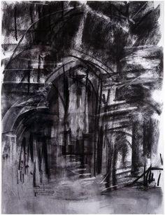 Dennis Creffield (b. 1931). Westminster Hall Evening, 1990   http://3.bp.blogspot.com/_