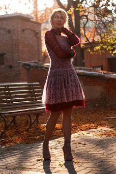 vestido rosa rendado 4