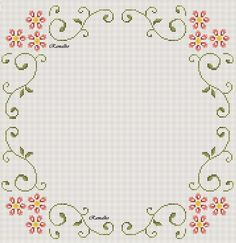 natty's cross stitch corner: s Cross Stitch Borders, Cross Stitch Alphabet, Cross Stitch Flowers, Cross Stitch Designs, Cross Stitching, Cross Stitch Embroidery, Hand Embroidery, Cross Stitch Patterns, Lace Patterns
