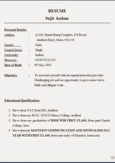 Divya bhagatdivyabhagat197 pinterest electrician cv example sample template example ofexcellent curriculum vitae resume cv format with career objective job profile work experience for mca yelopaper Choice Image