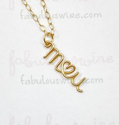 Lovers Two Initials With Heart Necklace - Custom 14K Gold Filled Wire. $54.00, via Etsy.