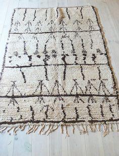 Vintage Moroccan Rug - Natural virgin wool - AZILAL RUG