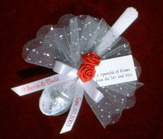 20 Personalized Favors Spoonful of Kisses for Wedding by CapeStarr, $60.00