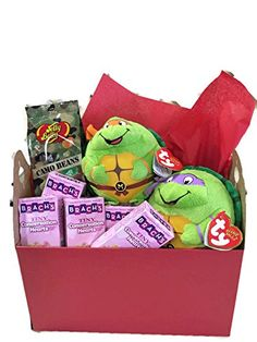 Teenage Mutant Ninja Turtles Valentine Bundle TMNT  Ty Beanie Baby Teenage  Mutant Ninja Turtle Plush + Camo Jelly Belly Jelly Beans + Conversation  Hearts ... e52ad818fa10