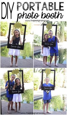 Easy diy photo booth photo booth learning and birthdays this diy portable photo booth is perfect for any where you are having fun from end of school classroom parties to summer hang outs by the pool solutioingenieria Images