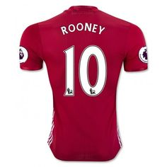 2016 2017 New Coming Season Manchester United FC 10 Wayne Rooney Home Red Football Soccer Jersey Cheap Football Shirts, Soccer Shirts, Soccer Jerseys, Soccer Gear, Football Soccer, Liverpool Coutinho, Manchester United Trikot, Premier League, Clothing Consignment Shops