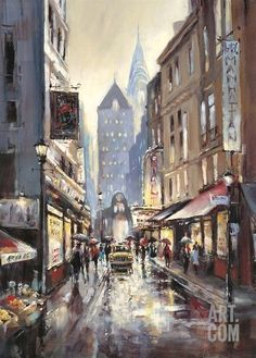 Off Broadway by Brent Heighton - Art Print