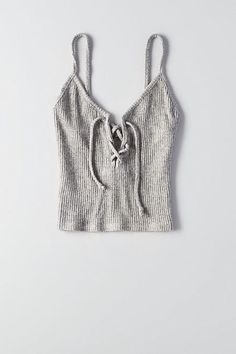 Start your chic outfit with a lace-up crop top. - Tank Tops - Ideas of Tank Tops - Start your chic outfit with a lace-up crop top. Crop Top Outfits, Summer Outfits, 90s Fashion, Fashion Outfits, Mode Boho, Cute Crop Tops, Cropped Tank Top, Ladies Dress Design, Chic Outfits