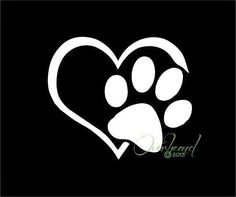 Paw with Heart tatoo Love My Dog, Puppy Love, Pet Dogs, Dog Cat, Pets, Doggies, Tattoo Chat, Smal Tattoo, Wrist Tattoo