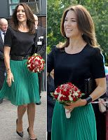 Crown Princess Mary  participated in the official opening of the Danish Refugee Council's new language center in Aarhus