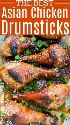 Asian Chicken Drumsticks FOUND IT! Made this several weeks ago and my family keeps asking for it again. Chicken Drumstick Marinade, Drumstick Recipes Oven, Asian Marinade For Chicken, Asian Chicken, Oven Baked Chicken Legs, Grilled Chicken Legs, Baked Chicken Drumsticks, Chicken Leg Recipes, Grilling Recipes