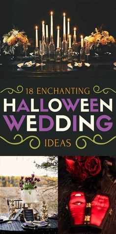 18 Ideas For A Badass Halloween Wedding