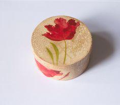 Tulip Box decoupage by AgatesDesign on Etsy, $5.00