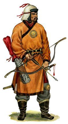 1250 c? Mongol Archer. Imperio Mongol 1206-1368 Get traditional archery from https://www.etsy.com/shop/ArcherySky