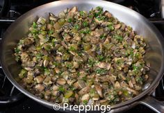 Duxelles - Butter, Cremini Mushroom, Italian Parsley, Shallot, Tarragon, Thyme :: Search alternative ingredients @ preppings.com